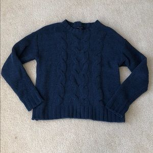 American Eagle Navy Soft Crew Sweater